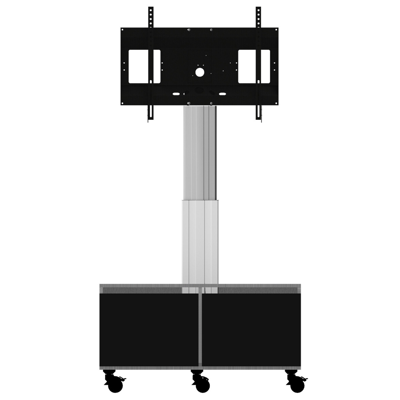 Support mobile/fixe celexon Expert Adjust-4286MS réglable en hauteur électriquement - 42''- 86'' (avec coffre de rangement)