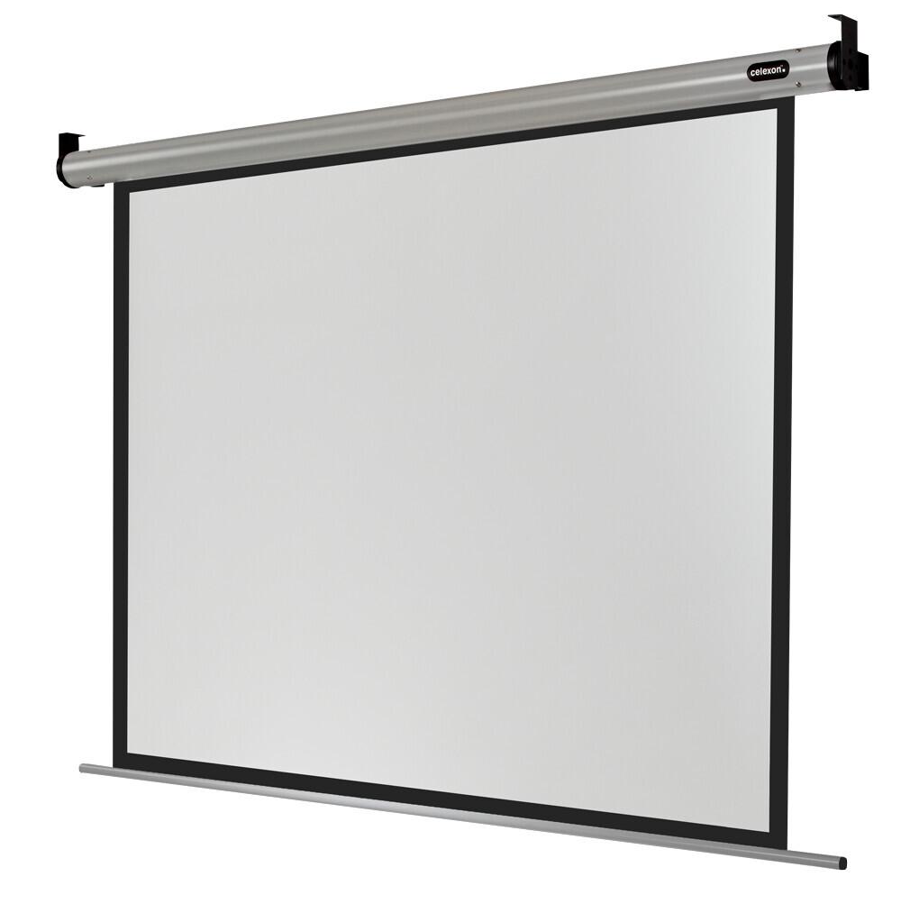 celexon schermo da proiezione Motor HomeCinema 240 x 180 cm   formato 4:3   schermo per proiettore con ottima planarità   fattore Gain 1,2 ideale per l'homecinema e le presentazioni   fissaggio a parete o a soffitto