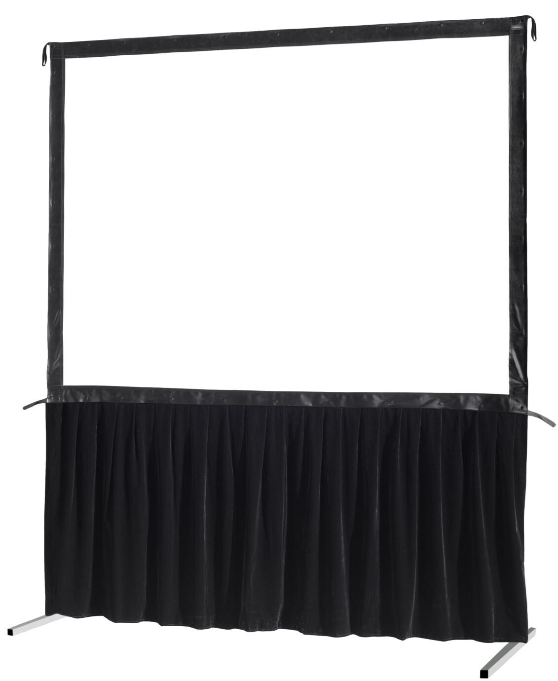 celexon Vorhangset 1-seitig für Faltrahmenleinwand Mobil Expert 244 x 137 cm