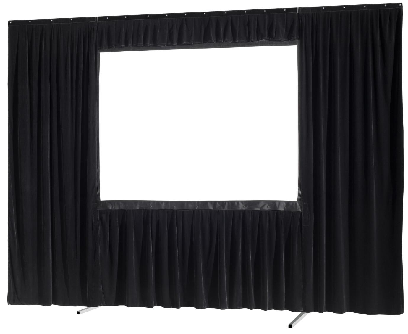 celexon Vorhangset 4-seitig für Faltrahmenleinwand Mobil Expert 406 x 305 cm