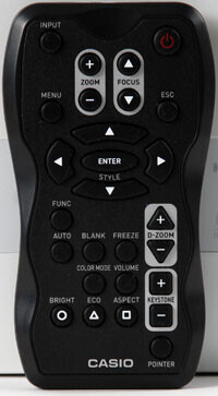 Casio Remote Control for Casio XJ-A Series