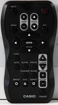 Casio fjärrkontroll för Casio XJ-A serien