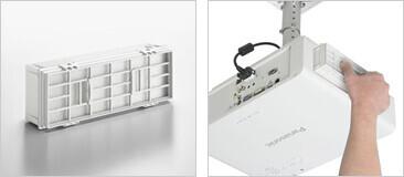 Panasonic Ersatzfiltereinheit ET-EMF100 für PT-FX400 PT-FW430 Serie