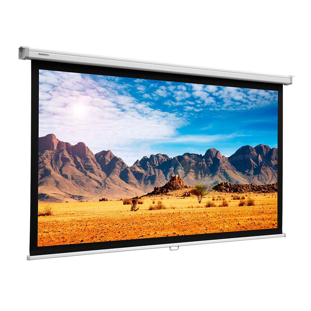 Projecta Rollo Leinwand SlimScreen, 240 x 139 cm, 16:9, mattweiss