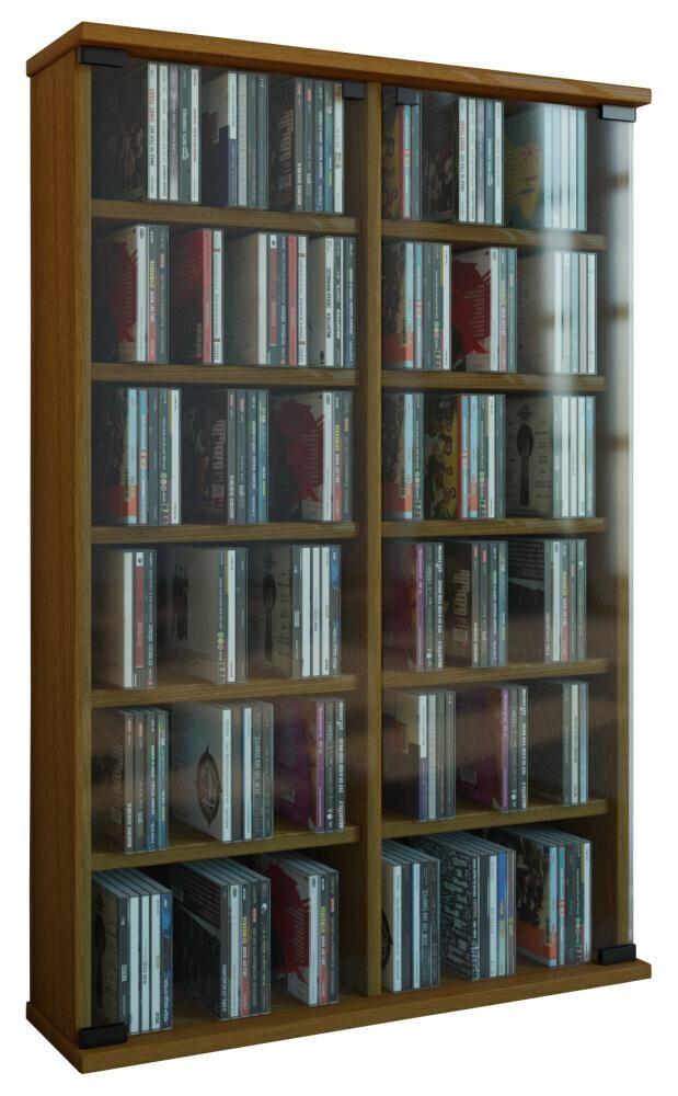 VCM CD / DVD Möbel Roma - Schrank / Regal in 6 Farben: eiche-rustikal