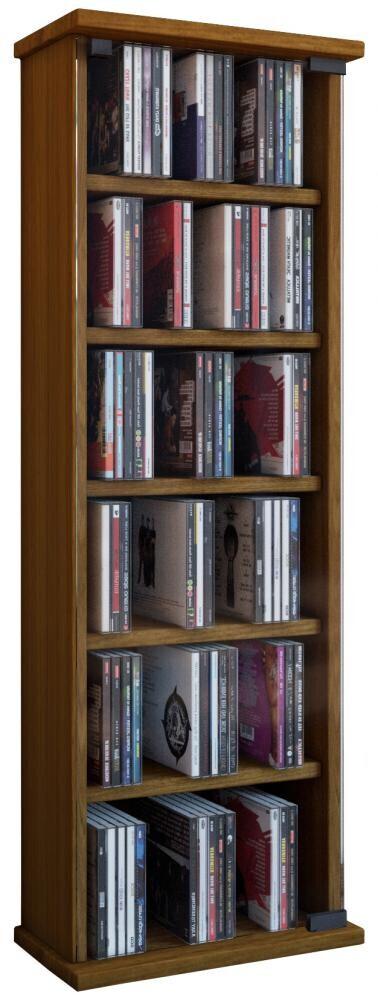 VCM Mueble para CD/DVD Vetro - mueble/estante en 7 colores: roble-rústico
