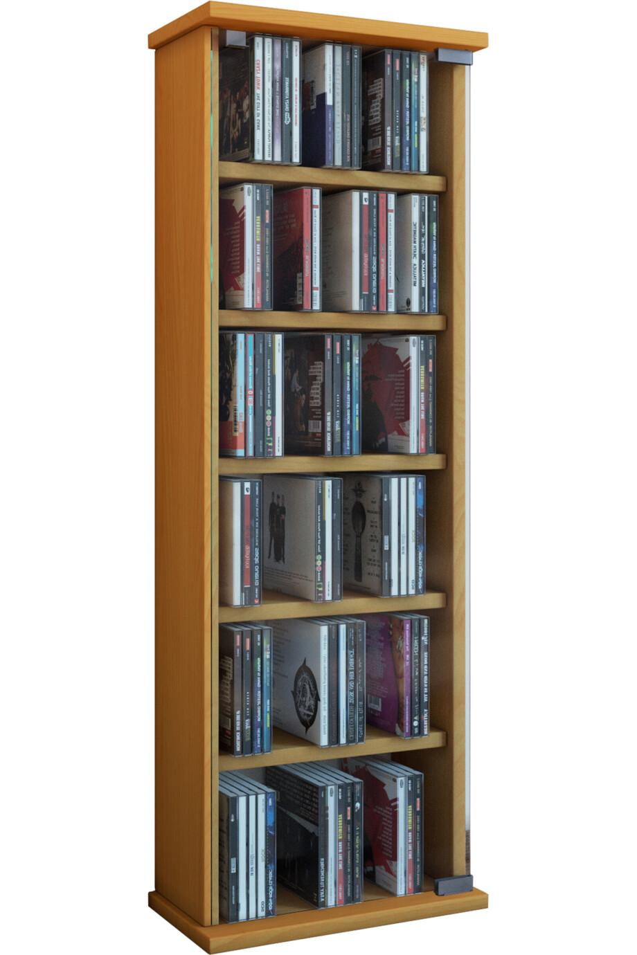 VCM muebles para CD / DVD Vetro - armario / estantería en 7 colores: haya
