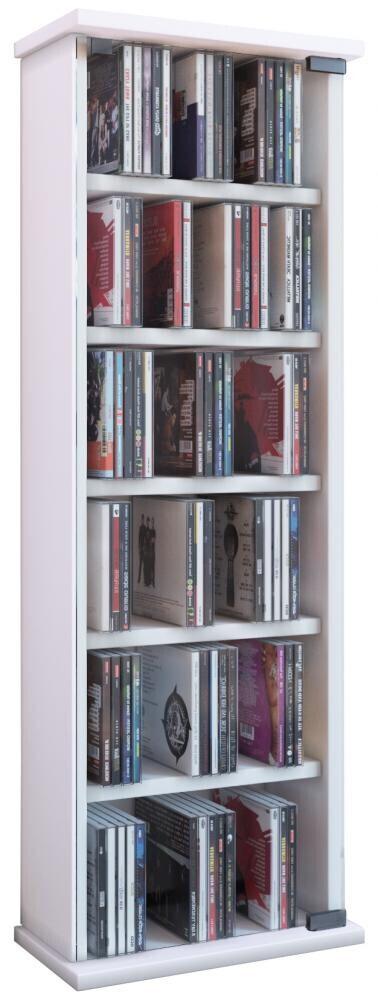 VCM CD / DVD Möbel Vetro - Schrank / Regal in 7 Farben: weiß
