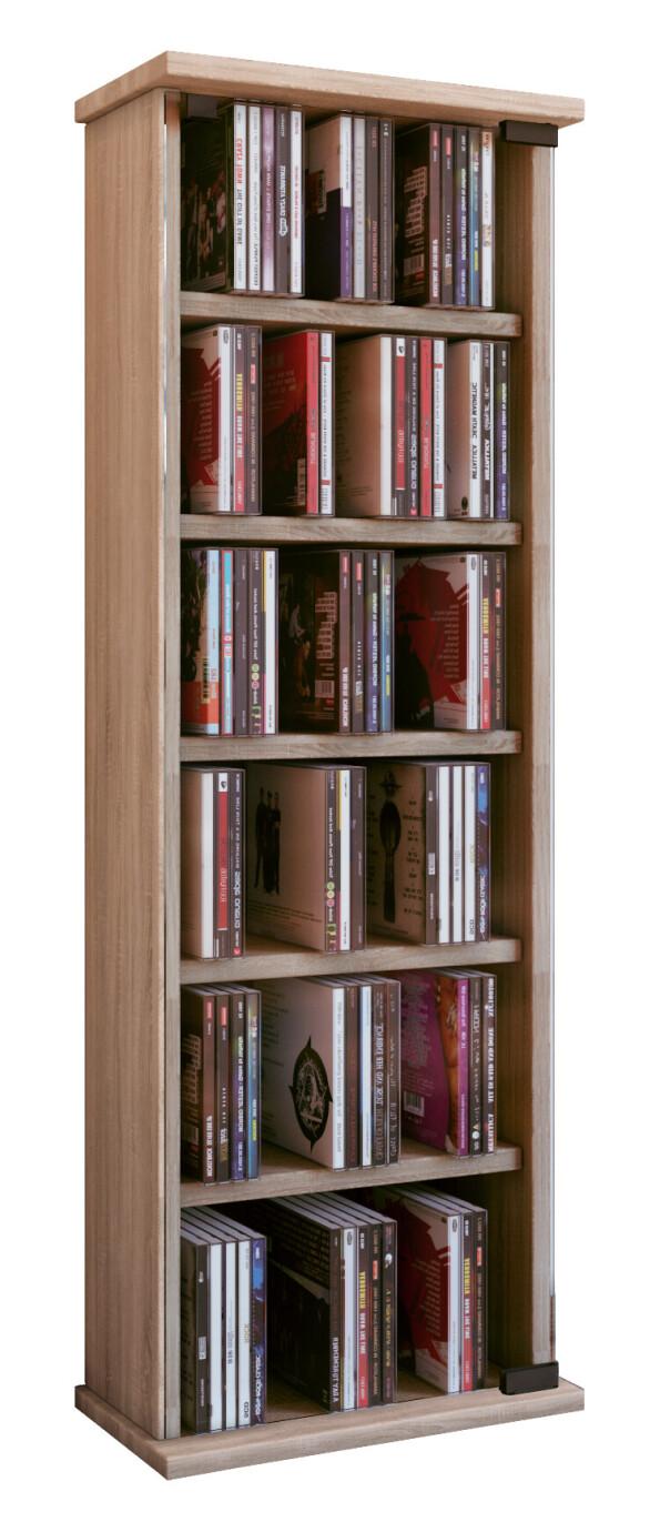 VCM Mueble para CD/DVD Vetro - mueble/estante en 7 colores: roble sonoma (aserrado)