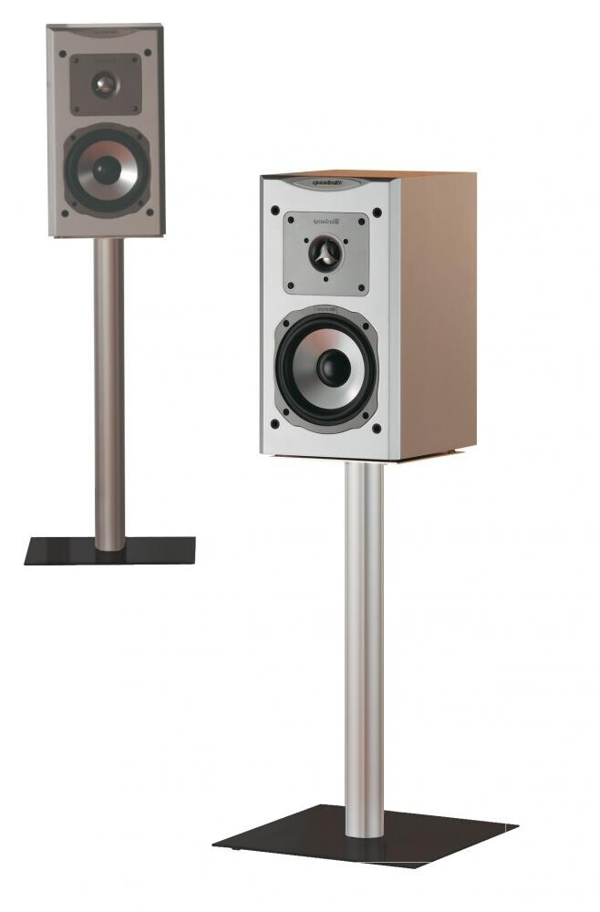 VCM 2x Lautsprecherstands Boxero Mini Schwarzglas 51 cm