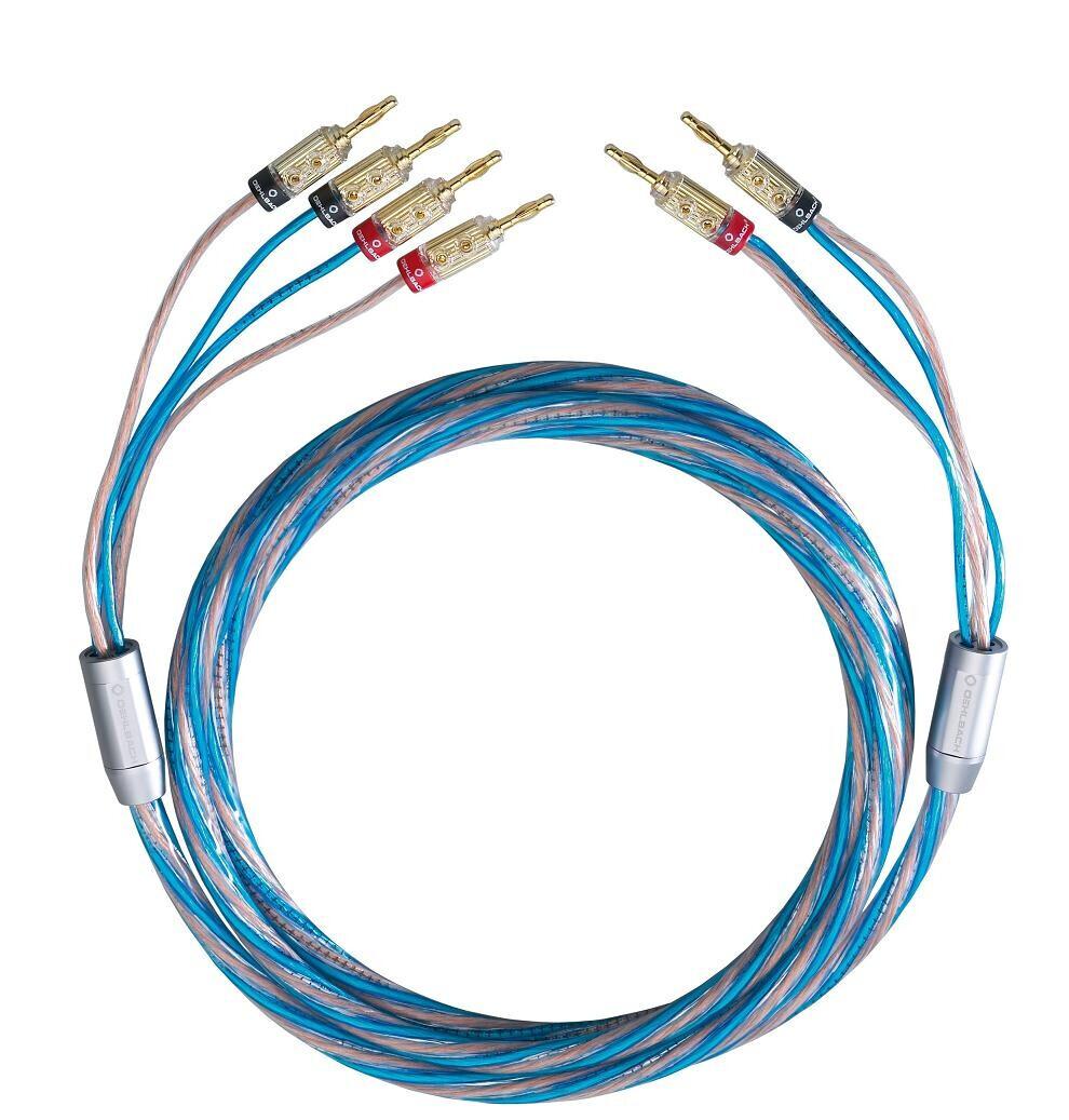 Oehlbach BI TECH 4 Bi-Wiring Kabel Set mit Kabelschuh - 2 x 3,0 m