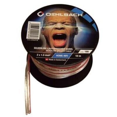 Oehlbach Silverline cable del altavoz a mini-coil 2 x 2,5 mm ² - 30 m