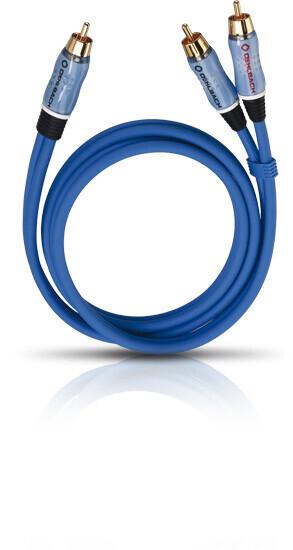 Oehlbach BOOOM! Y-Adapterkabel 10m blau
