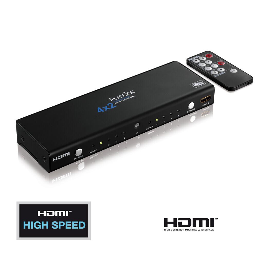 PureLink HDMI Matrix - ProSpeed Serie - 4x2 + Audio