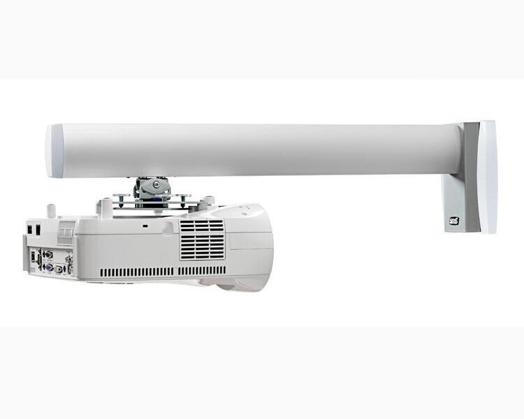 SMS Wandhalterung Short Throw V mit Säule 1450mm Aluminium/Weiß