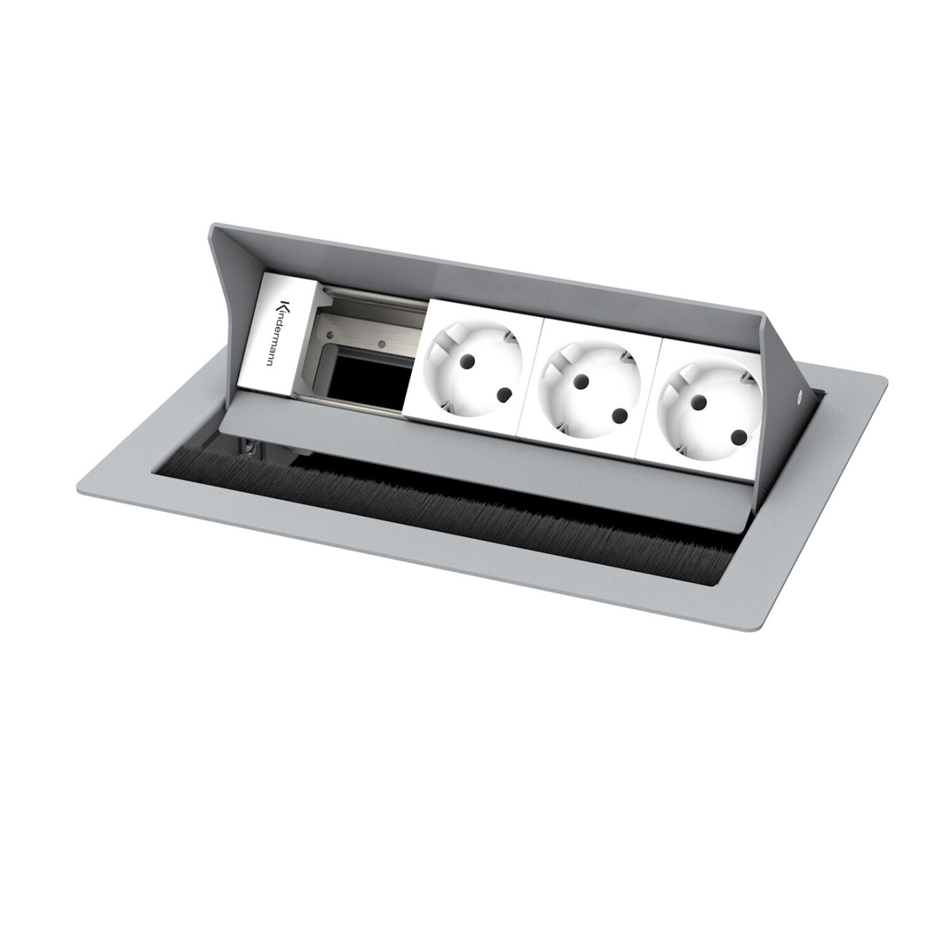 Kindermann CablePort standard2 4-fach, 3 x Strom