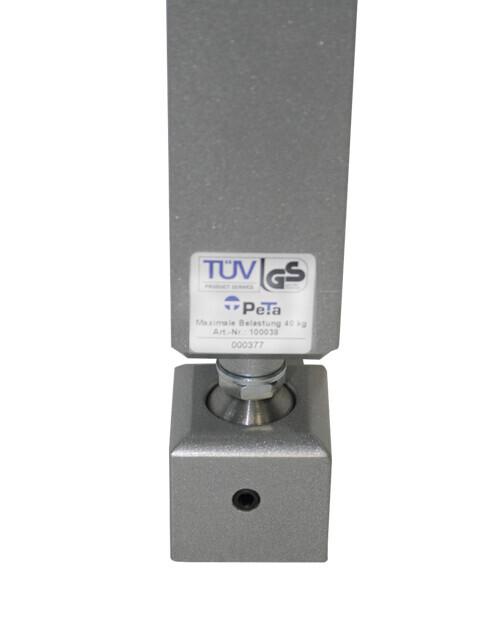 PeTa - Snodo a sfera d'acciaio (optional) per supporti PeTa a soffitto e a parete