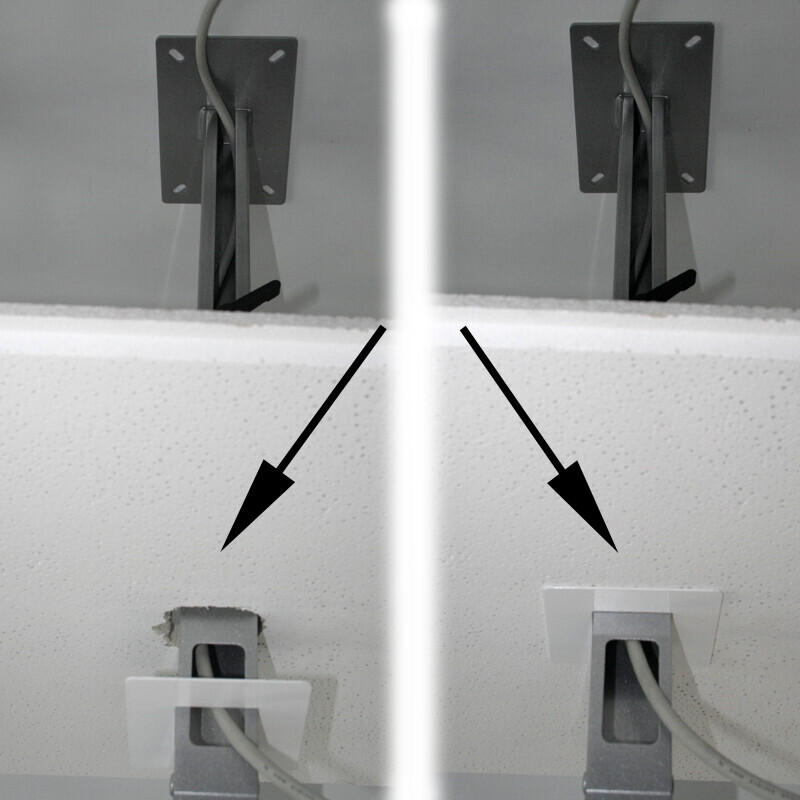 PeTa Rosette pour cacher les découpes du plafond, Diamètre 85mm, Argent