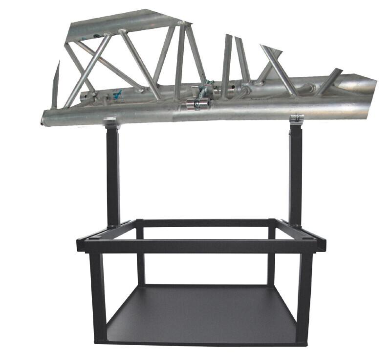 PeTa plateau voor grote projectoren, in hoogte verstelbaar 40-70cm, met half coupler, wit