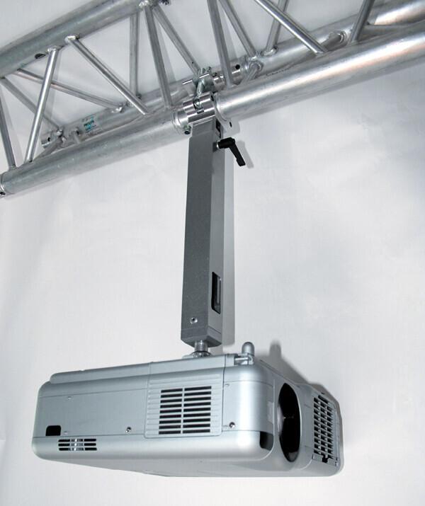 PeTa soporte de techo para vigas de metal (Trusses) - longitud variable 40-70 cm - blanco