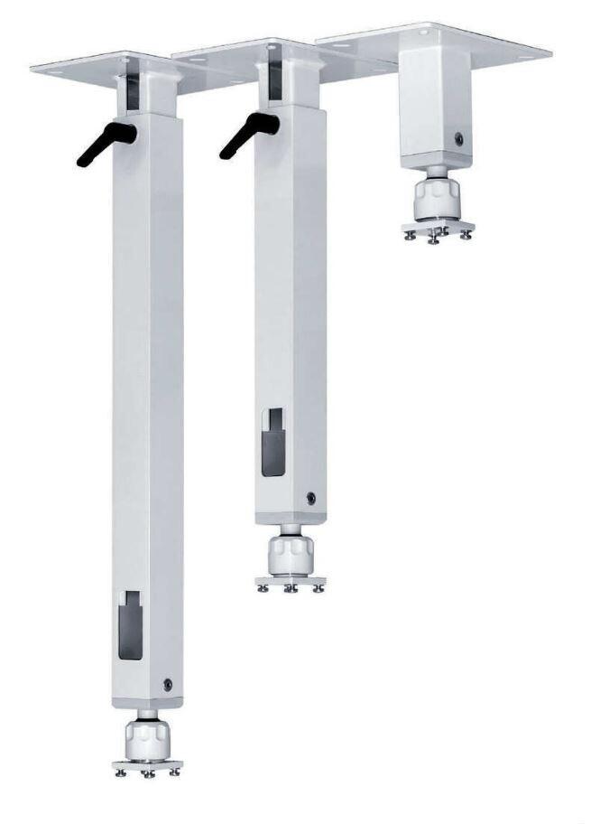 PeTa Deckenhalterung Standard mit Klemmhebel, feste Länge 10cm