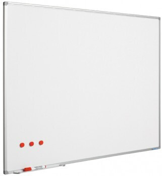 SMIT Visual Weißwandtafel Softline aluProf 8mm stahlemailliert weiß 90x120cm