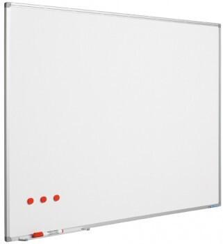SMIT Visual Weißwandtafel Softline aluProf 8mm stahlemailliert weiß 45x60cm
