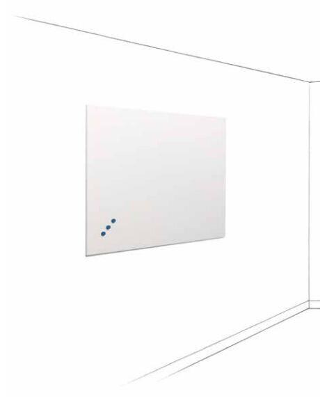 SMIT Visual Weißwandtafel Frameless, Ohne Profil emailstahl 90 x 120 cm,weiß