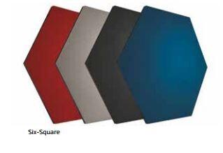 Smit Visual Shapes Pin Panel bulletin , Six-Square, grau 1 Stück
