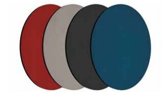 Smit Visual Shapes Pin Panel bulletin, Round, blau 3 Stück