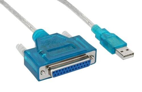 InLine USB zu 25pol. parallel, Drucker-Adapterkabel