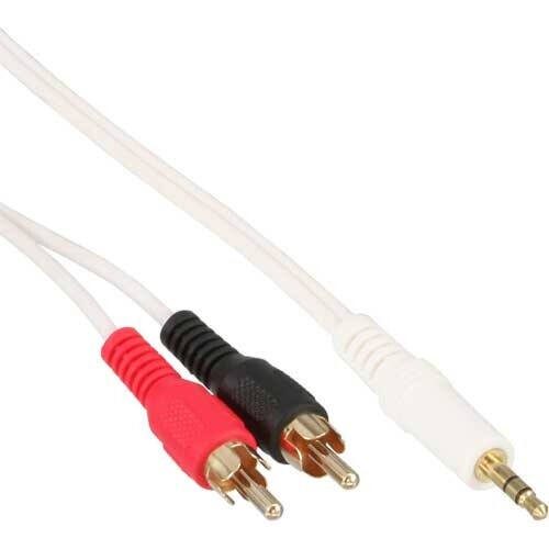 InLine RCA / 3.5mm jack cable - 3.5mm stereo plug to 2x RCA plugs - 2m