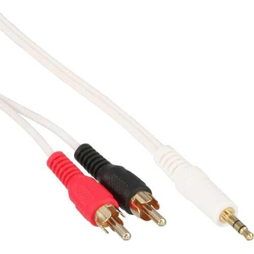InLine Cinch/Klinke Kabel, 3.5mm Stereo-Stecker auf 2x Cinch-Stecker, 1,5m