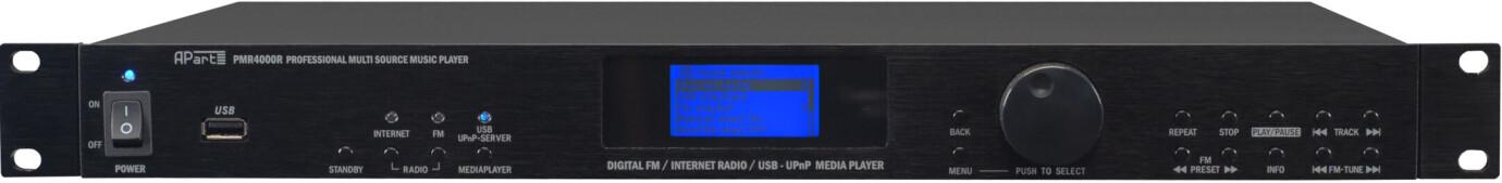 Apart PMR4000 Professioneller FM-Tuner, Mediaplayer und Internetradio