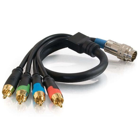 RapidRun® RCA Komponent Video + S/PDIF Digital Audio Flying Lead - 0.5 m