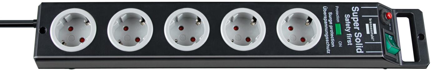 Brennenstuhl Super-Solid 4.500 A Überspannungsschutz-Steckdosenleiste 5-fach schwarz