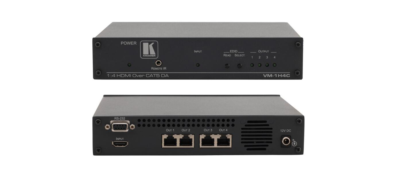 Kramer VM-1H4C 1:4 HDMI-CAT Verteiler (1x HDMI auf 4x CAT)