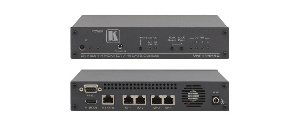 Kramer VM-114H4C Divisor 2x1:4 HDMI-CAT (2x HDMI a 4x CAT)
