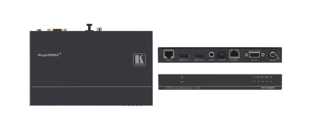 Kramer TP-582R HDMI-HDBaseT Empfaenger (1x HDBaseT auf 2x HDMI)