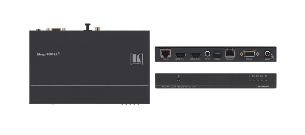 Kramer TP-582R Receptor HDMI-HDBaseT (1x HDBaseT a 2x HDMI)