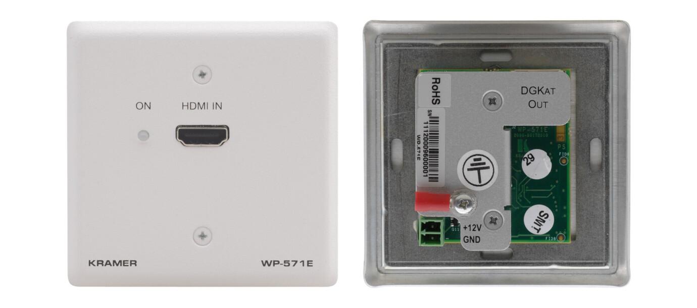 Kramer WP-571 HDMI-CAT Sender / Transmitter, Wand Anschlussfeld (1x HDMI auf 1x CAT)
