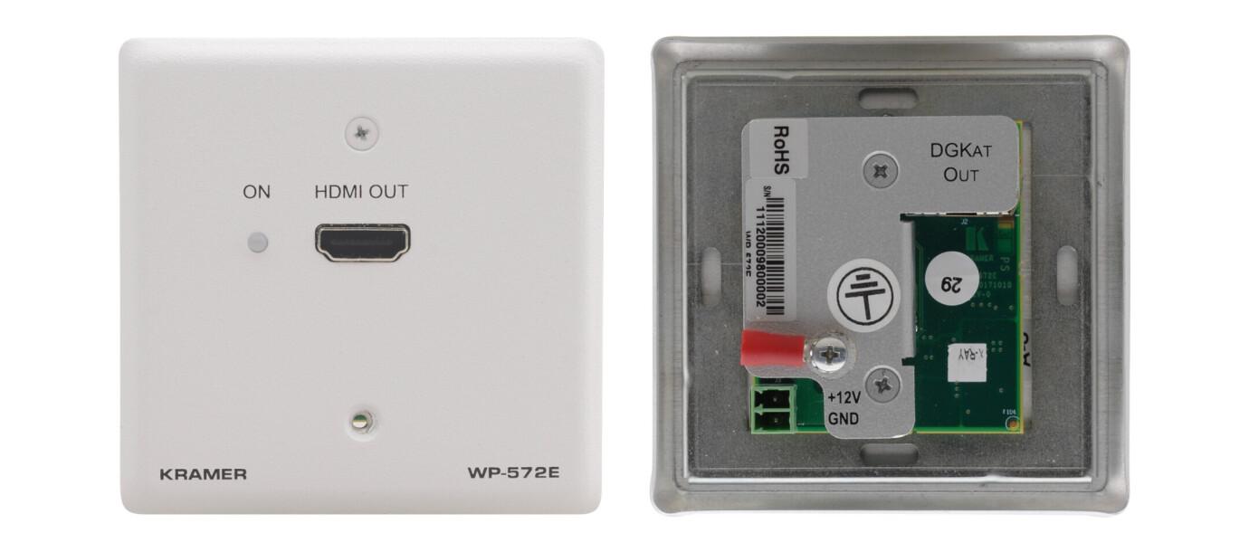 Kramer WP-572 HDMI-CAT Empfaenger / Receiver, Wand Anschlussfeld (1x CAT auf 1x HDMI)