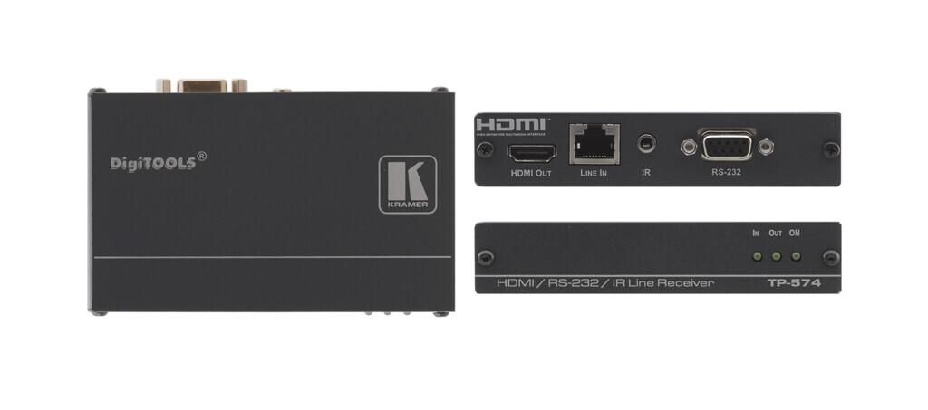 Kramer TP-574 HDMI-CAT Empfaenger / Receiver mit IR und RS232 (1x CAT auf 1x HDMI)