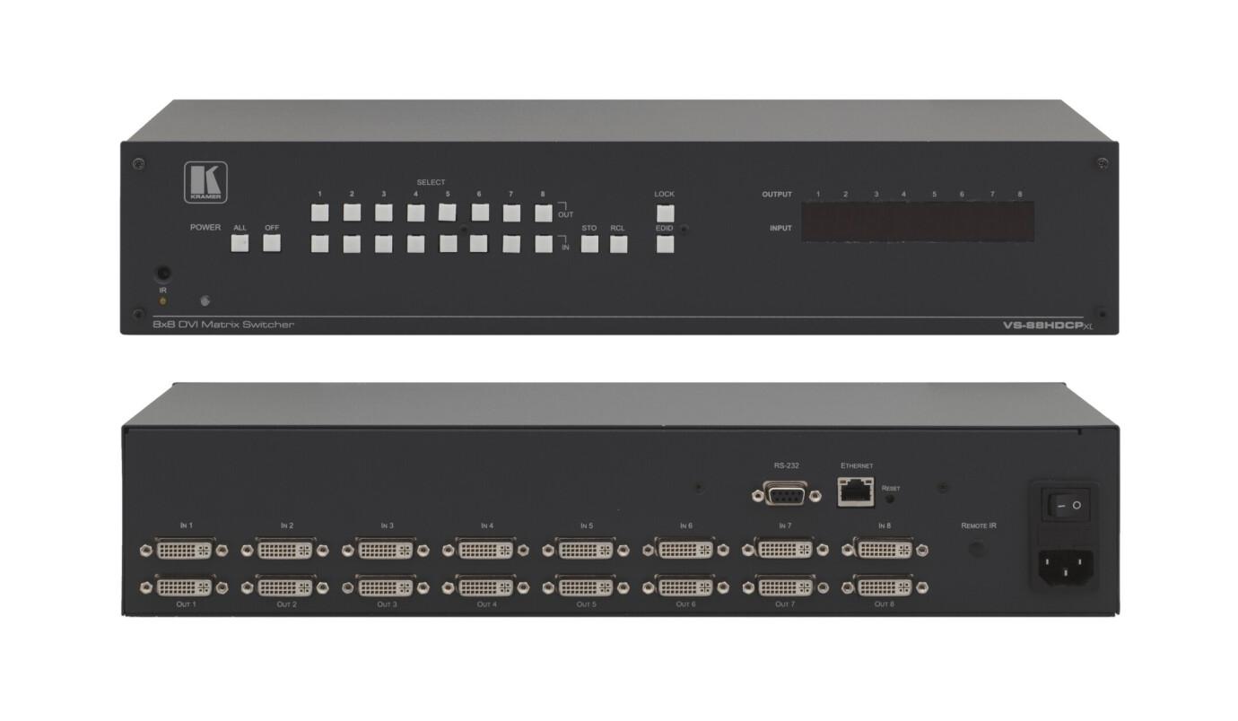Kramer VS-88HDCPxl 8x8 Matrixschalter für DVI (HDCP)
