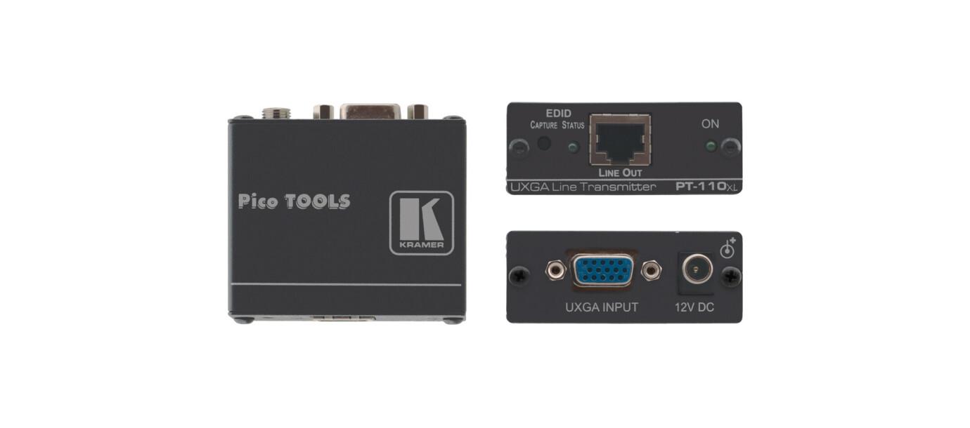 kramer PT110xl Twisted Pair förvandlare för datorgrafikvideo med EDID-stöd