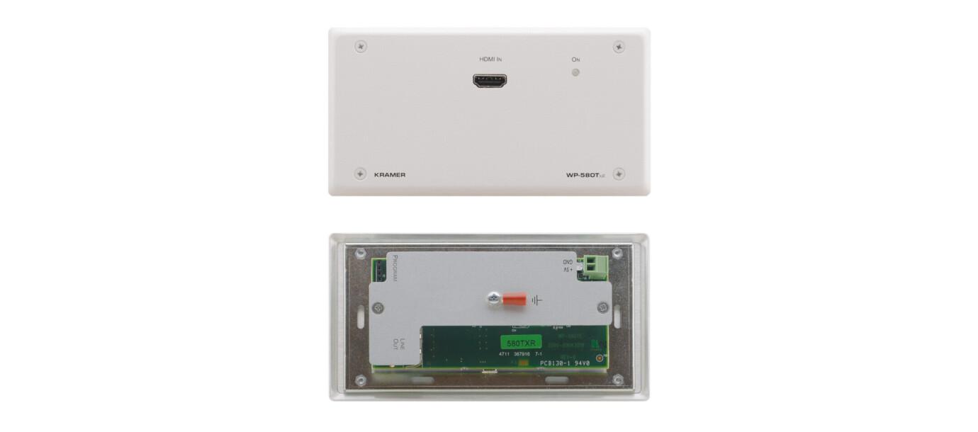 Kramer WP-580TXR Twisted Pair Ã?bertrager (HDBaseT) für HDMI, bidirektionales RS-232 und IR (Wandanschlussfeld)