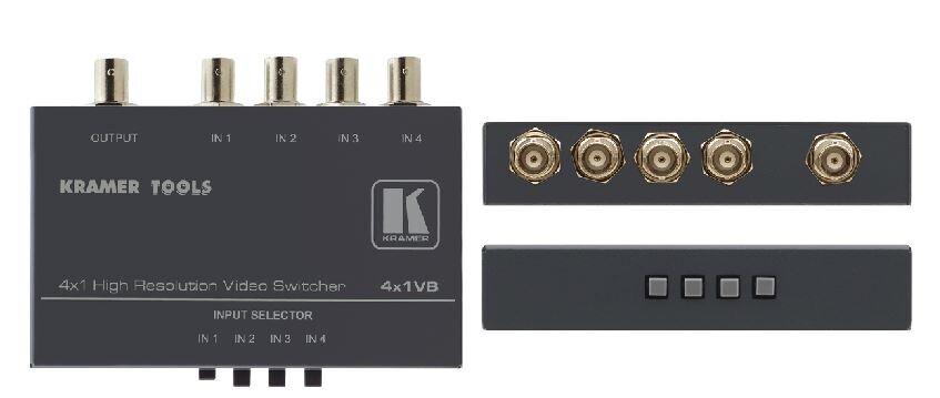 Kramer Mechanischer 4x1 Composite-Video Umschalter (BNC)