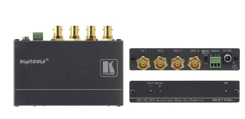 Kramer 2x1:2 3G HD-SDI Automatik / Standby-Umschalter