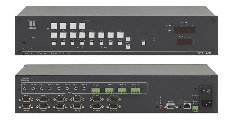 Kramer VP-8x4AK 8x4 Matrixschalter für Computergrafik und Stereo-Audio