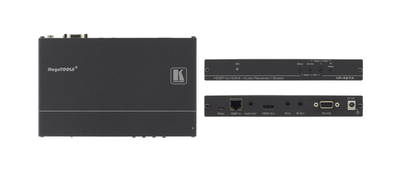 Kramer VP-427A HDBaseT Empfänger mit Scaler für HDMI und Audio